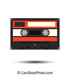Audiocassette. Vector Illustration