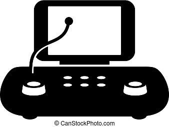 audiometer, ポータブル, アイコン