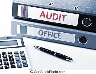audit, écrire, sur, dossier