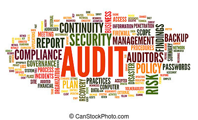 Audit and compliance in word tag cloud