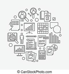 Audit and financial analysis illustration