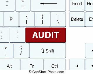 Audit brown keyboard button
