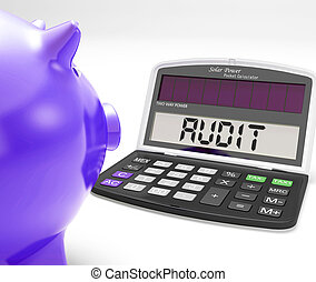 Audit Calculator Means Inspection Validation And Scrutiny