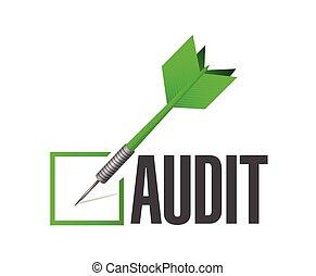 audit check dart illustration design over a white background...