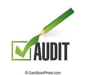 audit check mark illustration