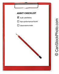 Audit Checklist on Clipboard