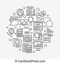 Audit circular linear illustration