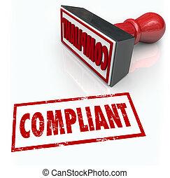 audit, classement, mot, réaction, timbre, conformité