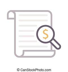 audit color line icon