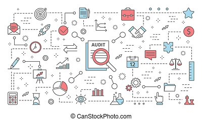 Audit concept. Business finance analysis and analytics