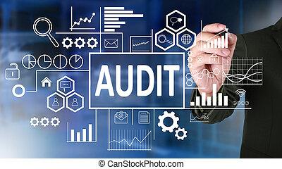 audit, concept, business