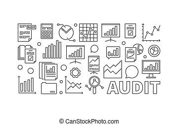 Audit concept business vector illustration
