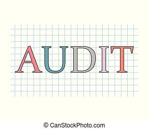 audit concept- vector illustration