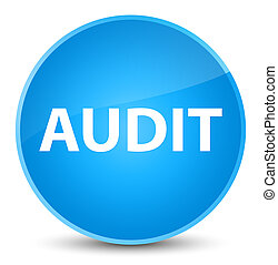 Audit elegant cyan blue round button