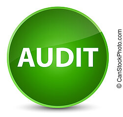Audit elegant green round button