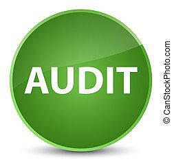 Audit elegant soft green round button
