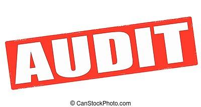 Audit - Stamp with word audit inside, vector illustration