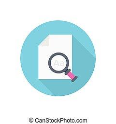 audit  flat color icon