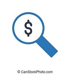 audit glyph color icon