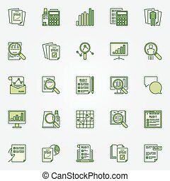 Audit green icons collection