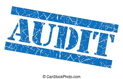 Audit grunge blue stamp