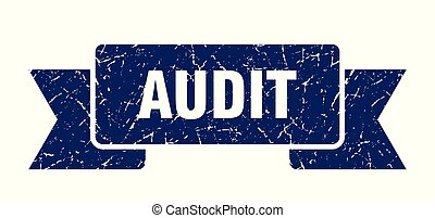 audit grunge ribbon. audit sign. audit banner