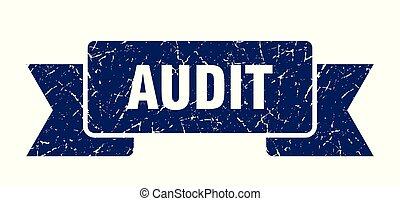 audit grunge ribbon. audit sign. audit banner