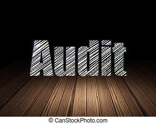 audit, grunge, salle, business, sombre, concept:
