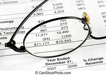 audit, les, compagnie, bilan, et, déclaration financière