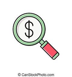 audit line flat icon