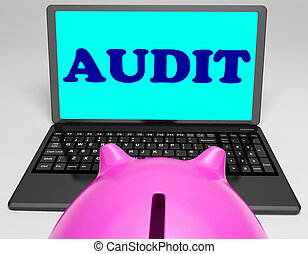 audit, moyens, ordinateur portable, analyse, examen minutieux, auditeur