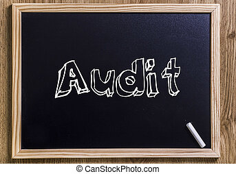 Audit - New chalkboard with 3D outlined text