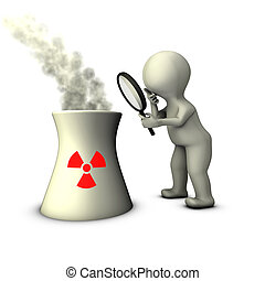 An inspector examines the infrastructure of nuclear power plant