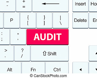 Audit pink keyboard button