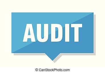 audit price tag - audit blue square price tag
