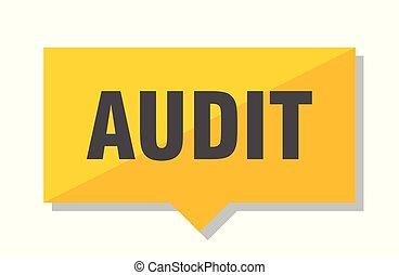 audit price tag - audit yellow square price tag
