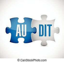 audit puzzle pieces illustration