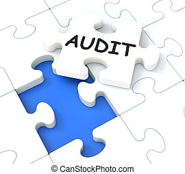 Audit Puzzle Shows Auditing And Reports - Audit Shows...