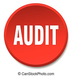 audit red round flat isolated push button
