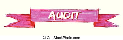 audit ribbon - audit hand painted ribbon sign