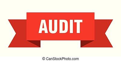 audit ribbon. audit isolated sign. audit banner