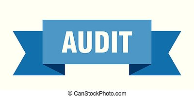 audit ribbon. audit isolated sign. audit banner