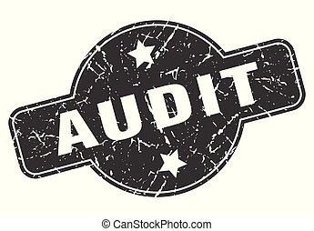 audit round grunge isolated stamp