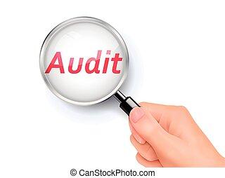 audit showing through magnifying glass