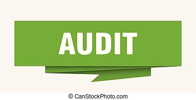 audit sign. audit paper origami speech bubble. audit tag. ...