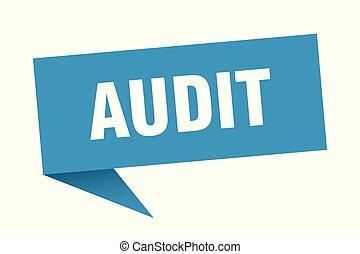 audit speech bubble. audit sign. audit banner