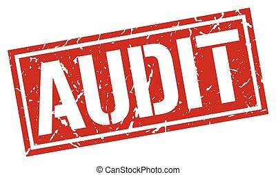 audit square grunge stamp