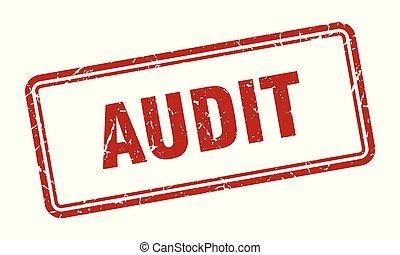 audit stamp. audit square grunge sign. audit