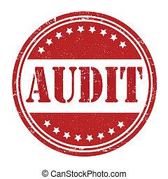 Audit stamp - Audit grunge rubber stamp on white, vector...