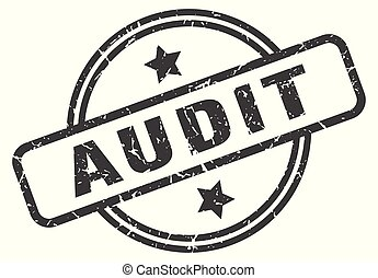 audit stamp isolated on white
